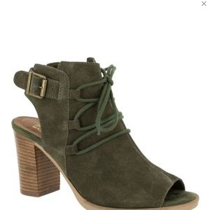 Olive Pru-Italy Suede Sandal
